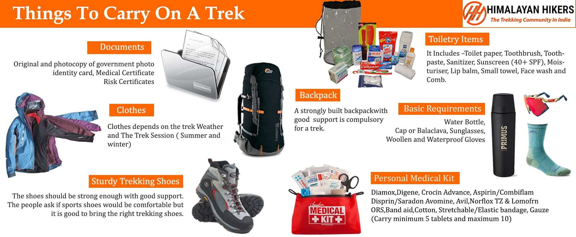 Things To Carry On A Trek