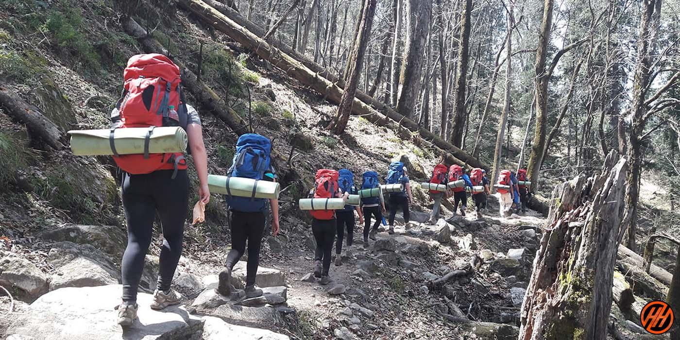 Trekking for School Children of Dun School