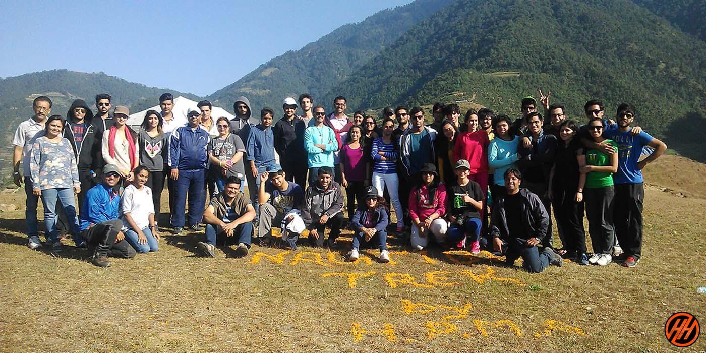 Trekking for School Children of Jindal Globle Univercity