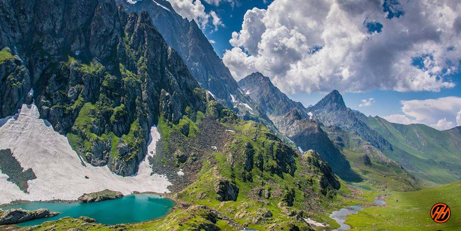 Beautiful mountains in Kashmir Great Lakes Trek