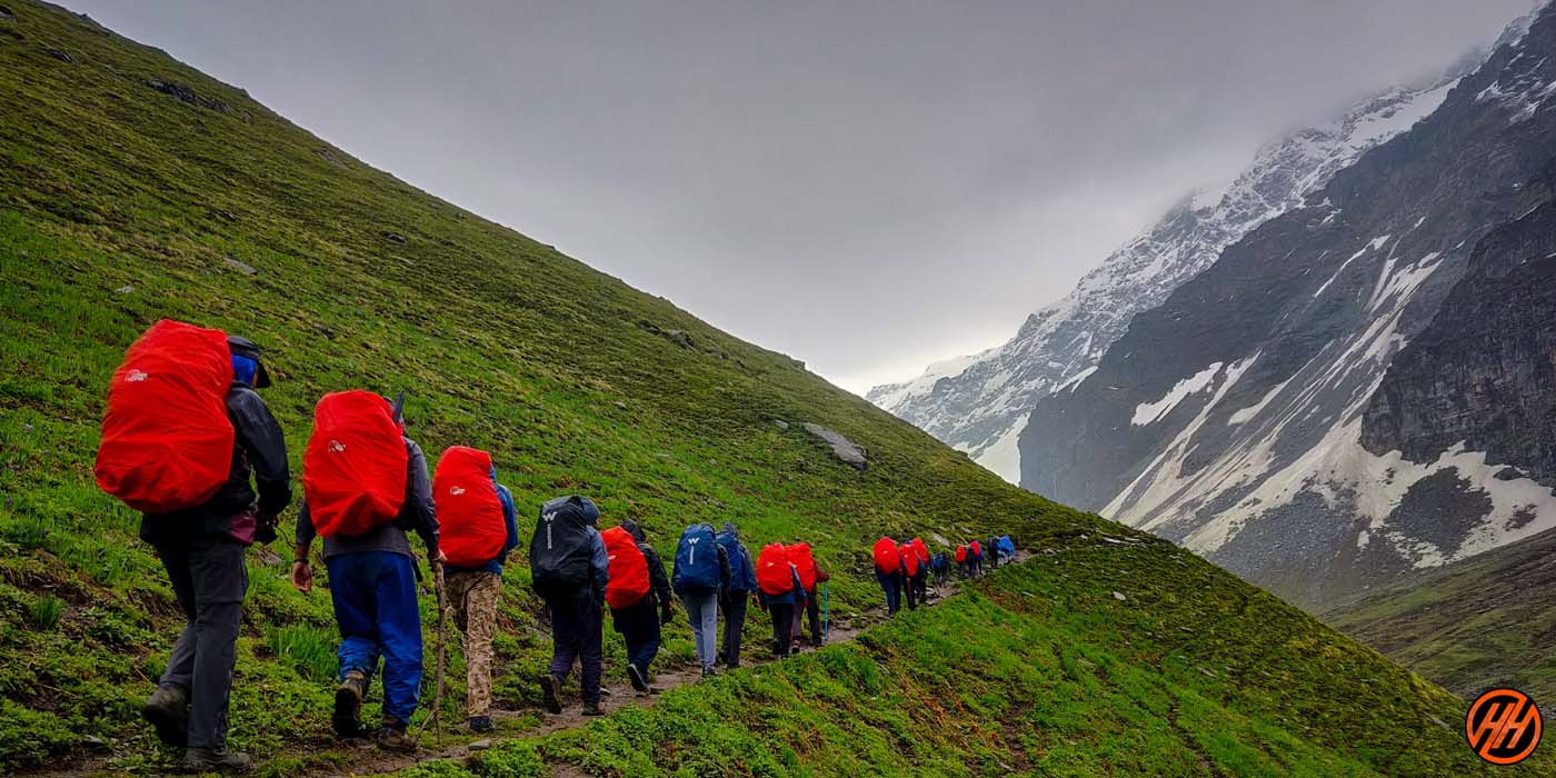 Trekking in india - buran ghati