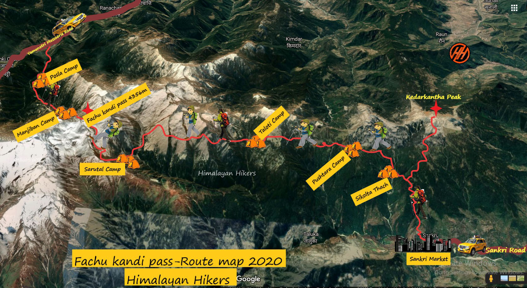 Fachu Kandi Pass Route Map