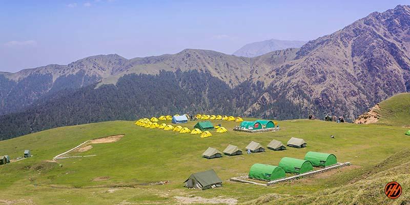 Beautiful Campsite of Bedni Bugyal Trek