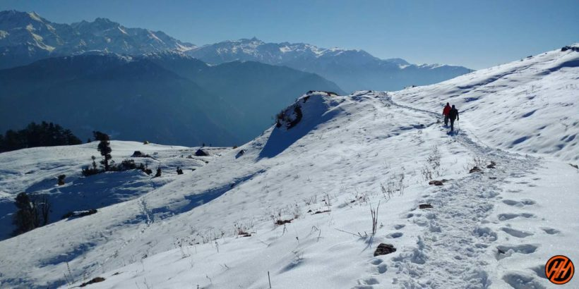 Beautiful Snow in Dayara Bugyal Trek