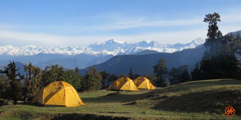 Base Camp in Deoriatal Chandrashila Trek