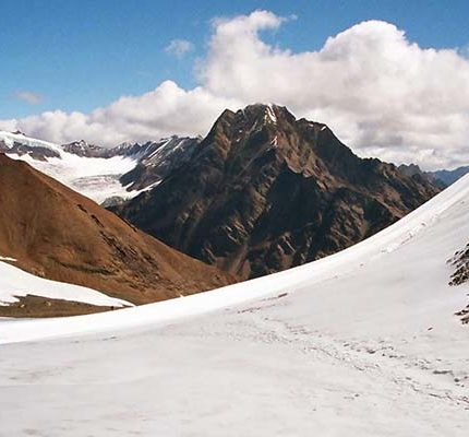 Beautiful Glacier in Pin Parvati Pass Trek