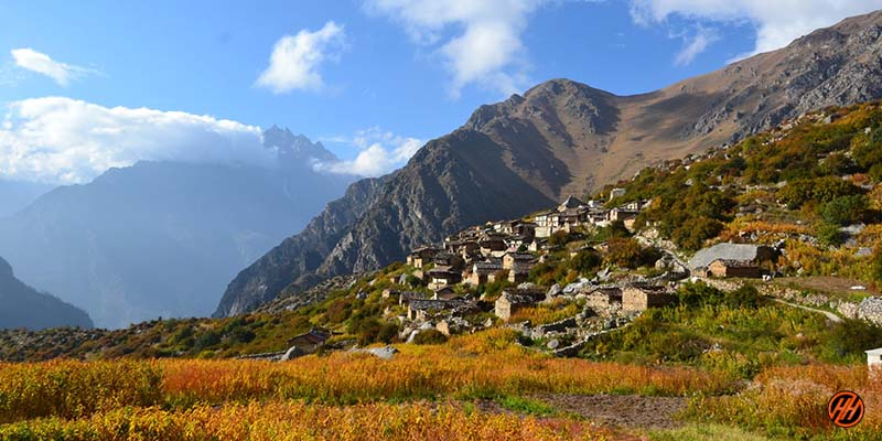 Beautiful Village in Bagini Glacier Trek