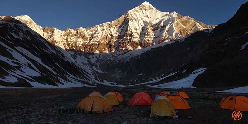 Beautiful Campsite in Nanda Devi Base Camp Trek