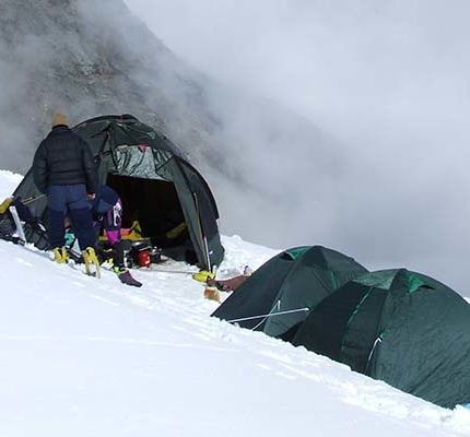Campsite of Mt. Kamet Expedition