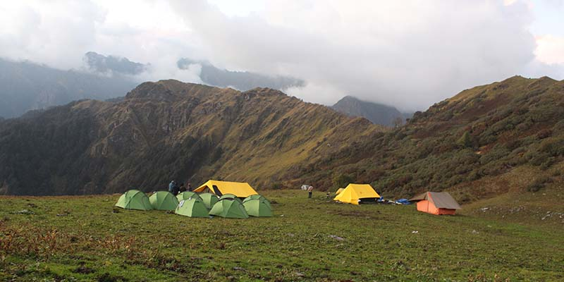trekking with lbsnaa in Baraadsar Lake Beautiful Meadows Campsite
