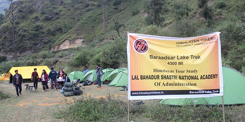Trekking with LBSNAA group