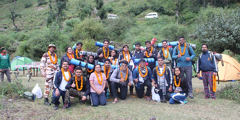 LBSNAA groups welcome in Baraadsar Lake Campsite