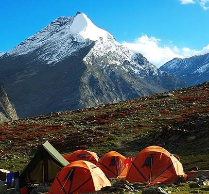 Campsite of Rudugaira Peak Expedition