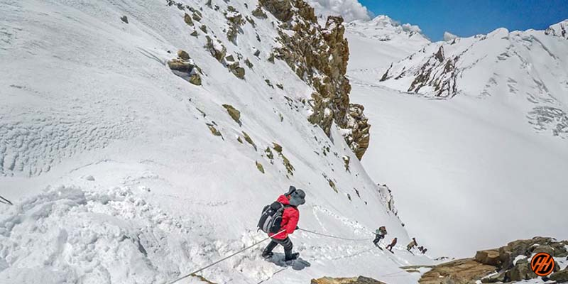 Hiking in Rudugaira Peak Expedition
