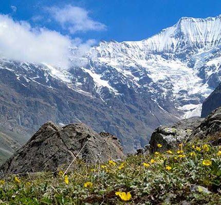 Beautiful Mountains View in Sunderdunga Trek