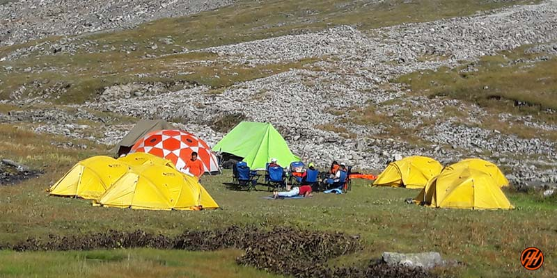 quality tents in campsite of local trekking company